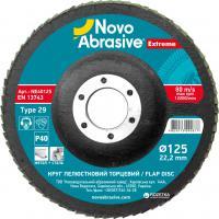 Круг шліфувальний пелюстковий Novoabrasive Standart,  Р 40, Р 60, Р 80, Р 120
